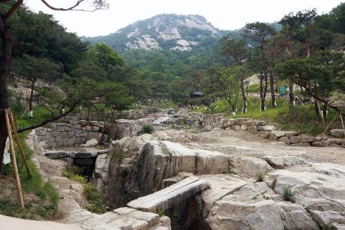 수성동계곡 복원사업 후