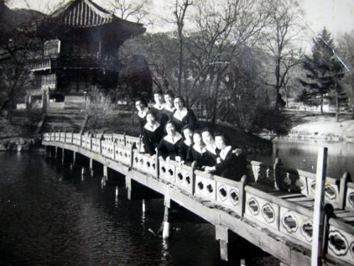 여고시절 경복궁 향원정 소풍 사진