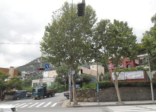 평창동 삼성아파트 앞